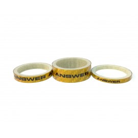 Answer Carbon Spacer 3 Pack Gold
