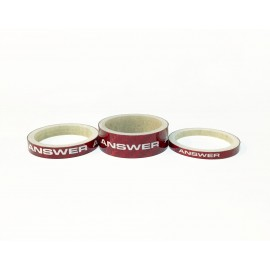 Answer Carbon Spacer 3 Pack Red