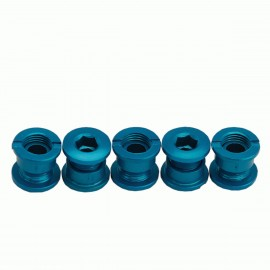 Answer Alloy Chain Ring Bolt Kit Blue