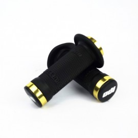 Odi Bmx Ruffian Flange Lock On Black Grip 100 Mm Gold