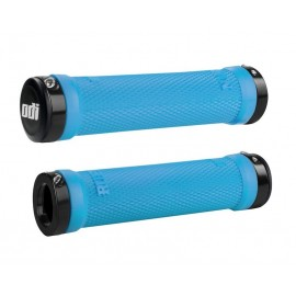 Odi Ruffian No Flange Lock On Grip 130Mm Aqua Rubber