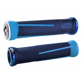 Odi Ag1 No Flange Lock On Grip  Brt Blue/Lt Blue