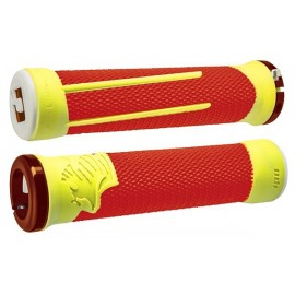 Odi Ag-2 Signature V2.1 Lock-On Grips - Orange/Yelloww/Org Clamps
